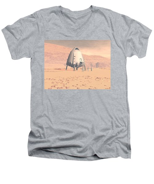 Stormy Skies Men's V-Neck T-Shirt by David Robinson