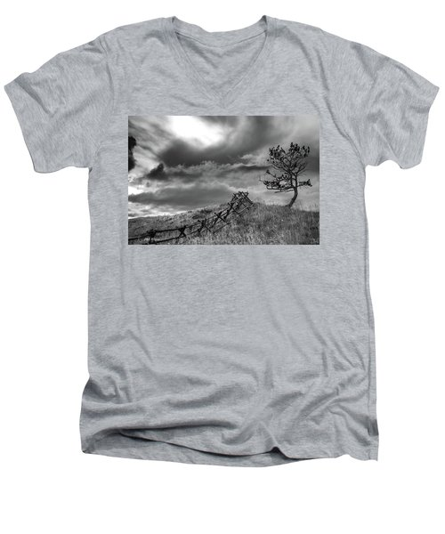 Stormy Sky At The Ranch Men's V-Neck T-Shirt
