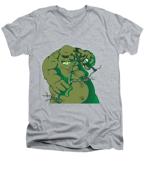 Storybook Ogre Shooting Heads Men's V-Neck T-Shirt by Jorgo Photography - Wall Art Gallery