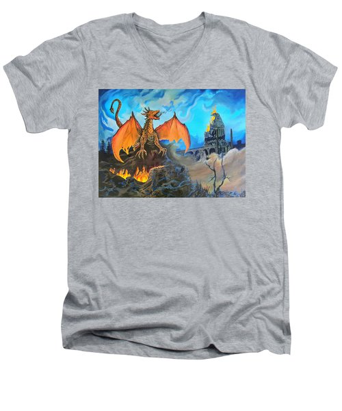 Straight To The Casttttle Men's V-Neck T-Shirt by Kevin F Heuman