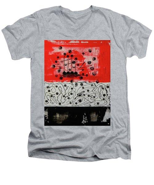 Stranded In The Wrong Time Men's V-Neck T-Shirt by Everette McMahan jr