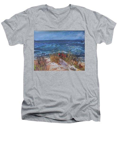 Strangers On The Shore Men's V-Neck T-Shirt