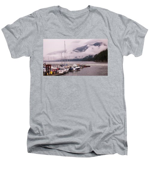 Stratus Clouds Over Horseshoe Bay Men's V-Neck T-Shirt