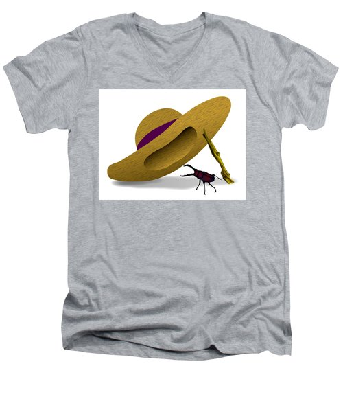 Straw Hat And Stag Beetle Men's V-Neck T-Shirt