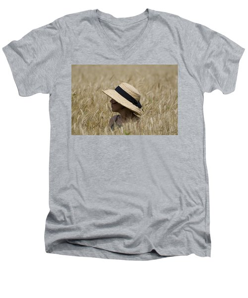 Straw Hat Men's V-Neck T-Shirt