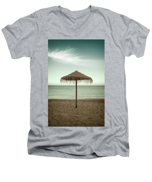 Men's V-Neck T-Shirt featuring the photograph Straw Shader by Carlos Caetano