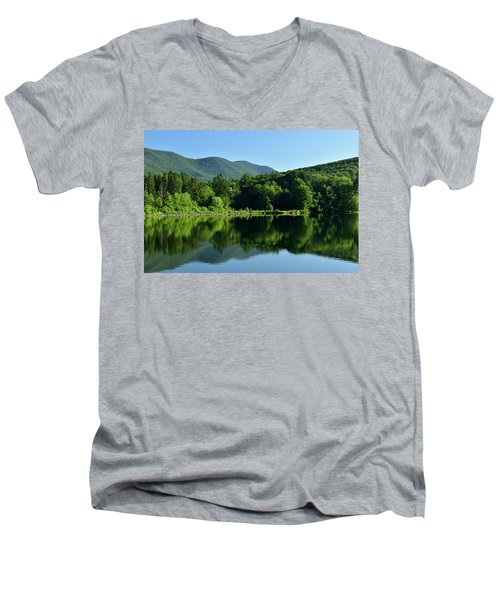 Streak Of Light At The Lake Men's V-Neck T-Shirt