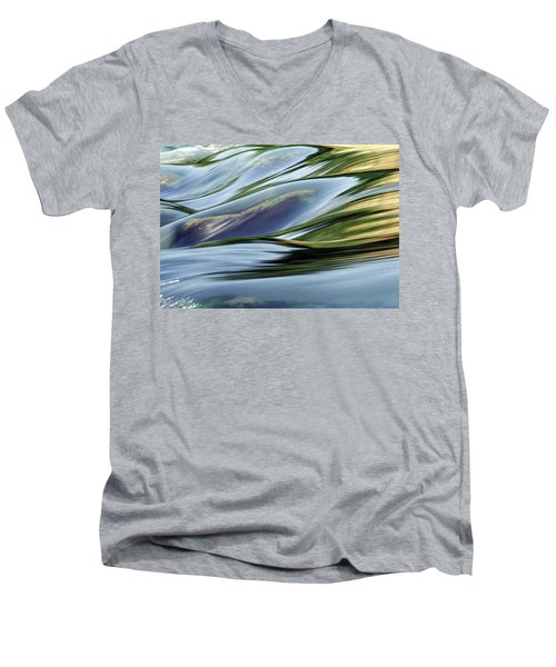 Men's V-Neck T-Shirt featuring the photograph Stream 3 by Dubi Roman