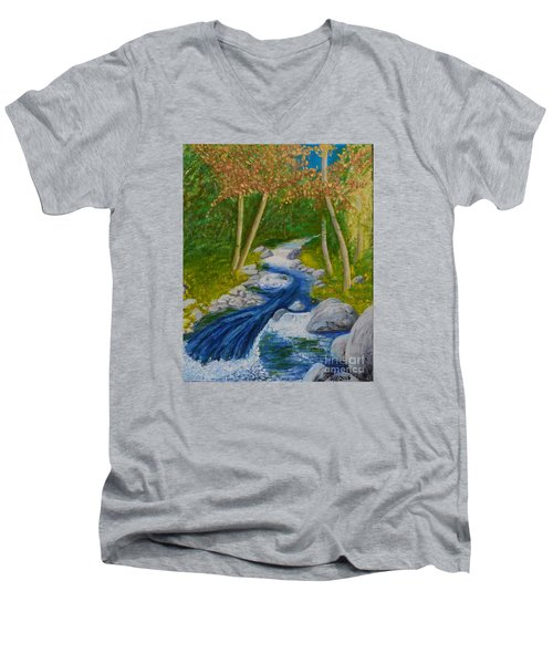Stream Two Men's V-Neck T-Shirt