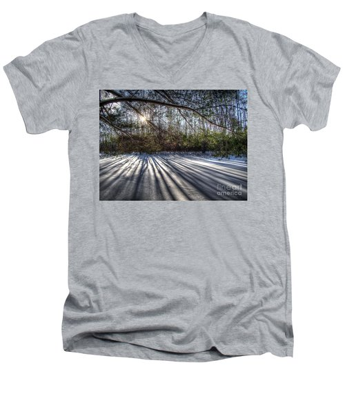 Streaming Men's V-Neck T-Shirt by Betsy Zimmerli