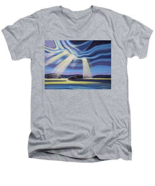 Streaming Light  Men's V-Neck T-Shirt