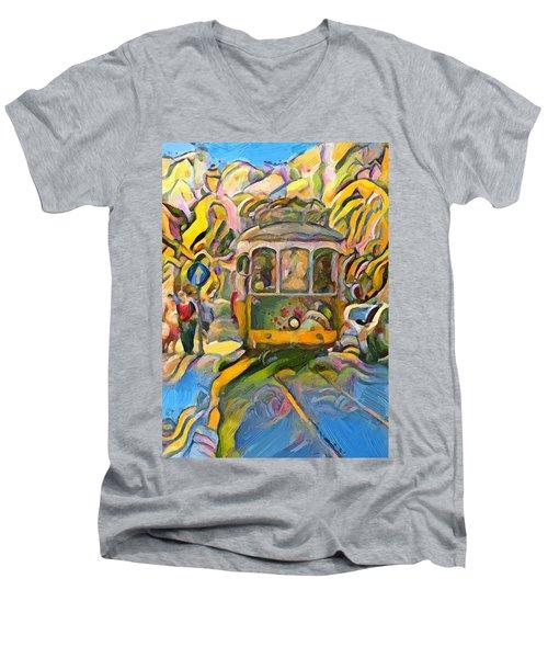 Street Car Lisbon Men's V-Neck T-Shirt