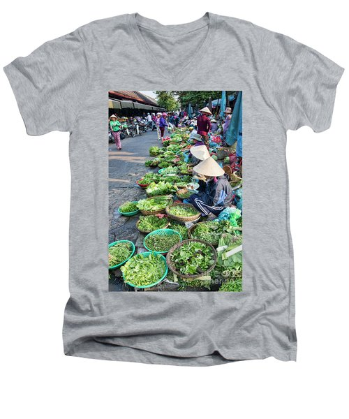 Street Market Hoi An Men's V-Neck T-Shirt