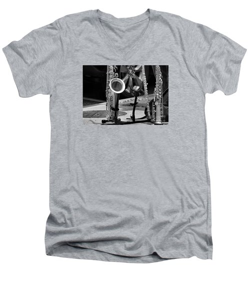 Street Music Men's V-Neck T-Shirt by John S