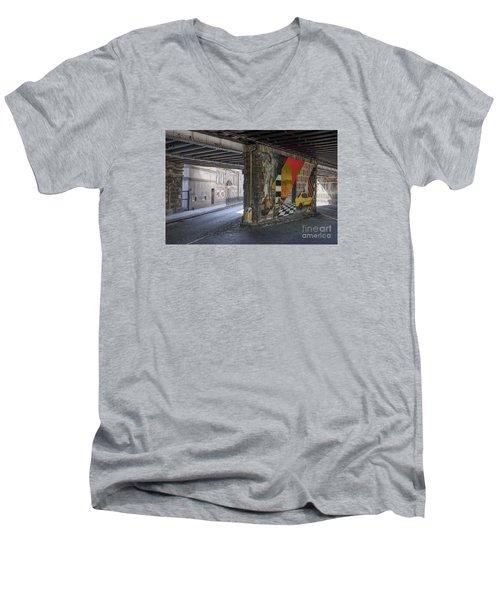 Street Scene - Edinburgh Men's V-Neck T-Shirt by Amy Fearn