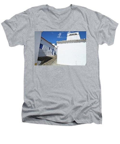 Streets Of A Medieval Castle. Alentejo Men's V-Neck T-Shirt