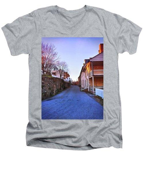 Streets Of Harpers Ferry Men's V-Neck T-Shirt