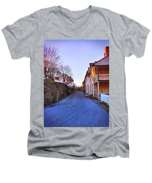 Streets Of Harpers Ferry Men's V-Neck T-Shirt