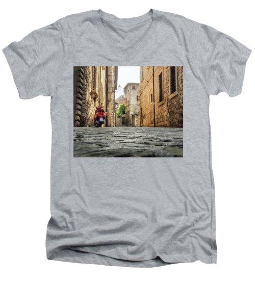 Streets Of Italy Men's V-Neck T-Shirt