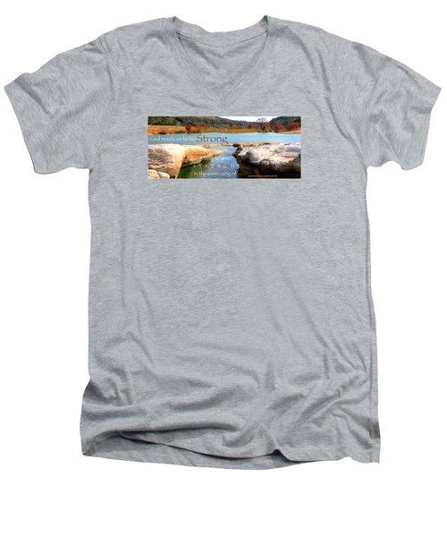 Strength Multiplied Men's V-Neck T-Shirt by David Norman
