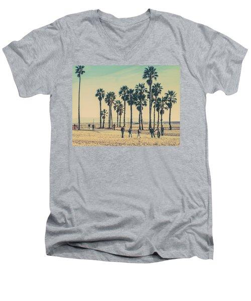 Stroll Down Venice Beach Men's V-Neck T-Shirt