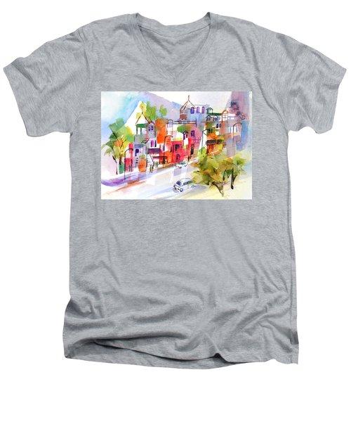 Stroll In Montreal Men's V-Neck T-Shirt