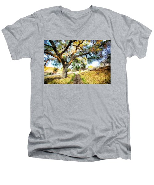 Strolling Down The Path Men's V-Neck T-Shirt