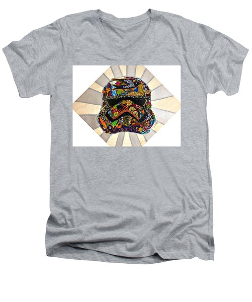 Strom Trooper Afrofuturist  Men's V-Neck T-Shirt