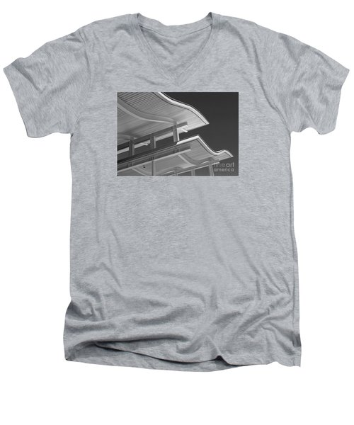 Structure Abstract 6 Men's V-Neck T-Shirt by Cheryl Del Toro