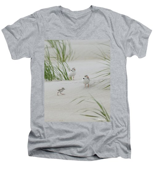Struggle In The Blowing Sand Men's V-Neck T-Shirt