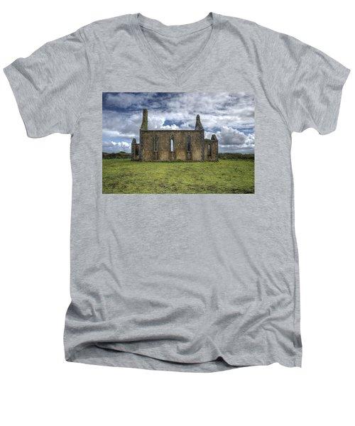 Stthomas Church In Aran Islands, Inis Mor Men's V-Neck T-Shirt