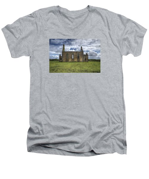 Stthomas Church In Aran Islands, Inis Mor Men's V-Neck T-Shirt