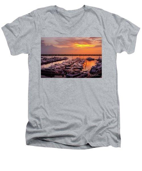 Stuart Sunset Men's V-Neck T-Shirt