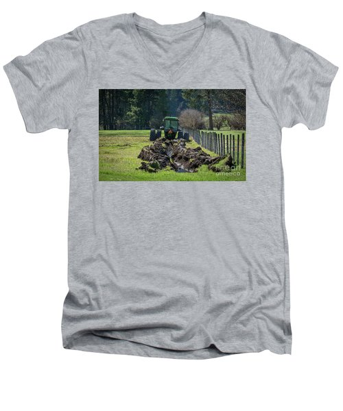 Stuck In The Muck Agriculture Art By Kaylyn Franks Men's V-Neck T-Shirt