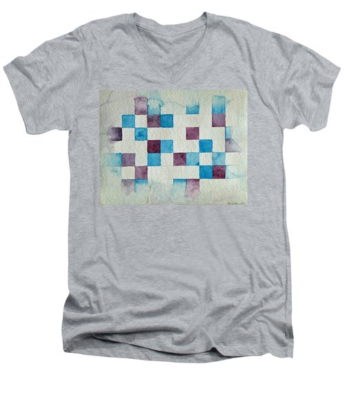 Study In Blue And Violet Men's V-Neck T-Shirt