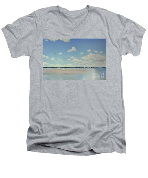 Study Of Blue Nr 1 Men's V-Neck T-Shirt