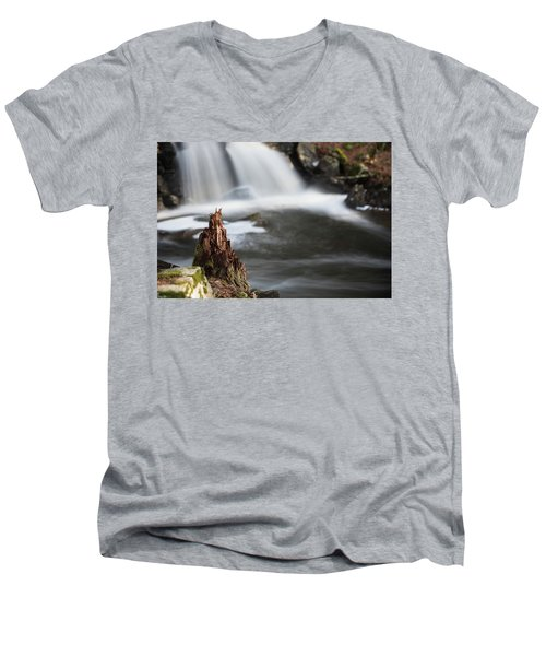 Stumped At The Secret Waterfall Men's V-Neck T-Shirt