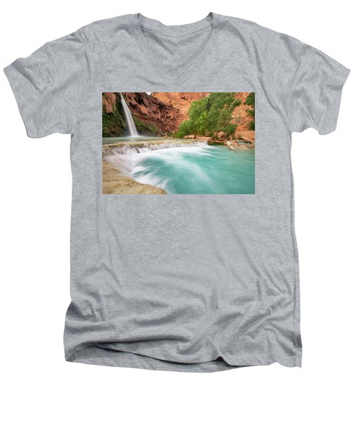 Stunning Havasu Falls Men's V-Neck T-Shirt