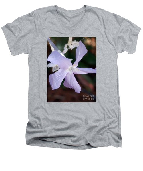 Stunning New Mexico Purple Wildflower Men's V-Neck T-Shirt