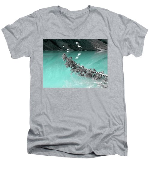Stunning Turquoise Glacial Lake Men's V-Neck T-Shirt