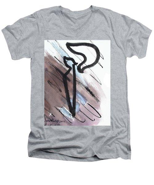 Stylish Kuf Ku6 Men's V-Neck T-Shirt