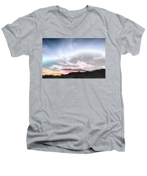 Submarine In The Sky Men's V-Neck T-Shirt