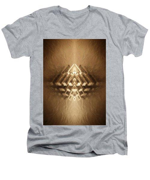 Subtle Geometrix Men's V-Neck T-Shirt
