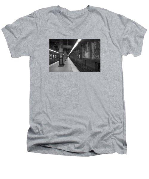 Subway At Grand Central Men's V-Neck T-Shirt