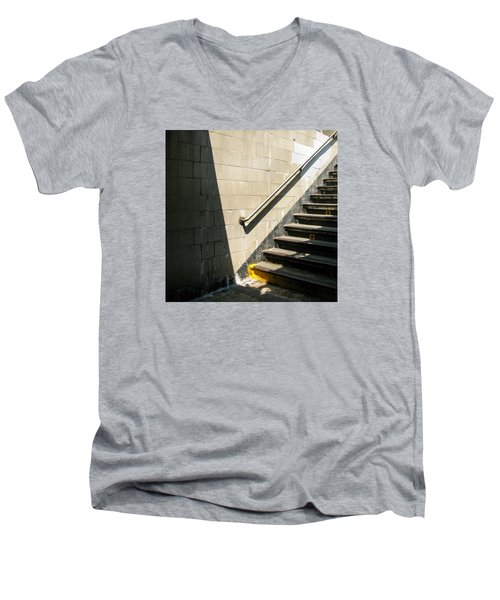 Subway Stairs Men's V-Neck T-Shirt