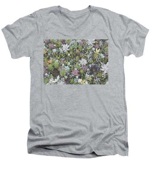 Succulent 8 Men's V-Neck T-Shirt by David Hansen