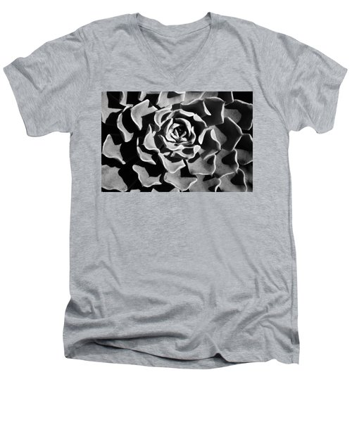 Men's V-Neck T-Shirt featuring the photograph Succulent Extrem  by Catherine Lau