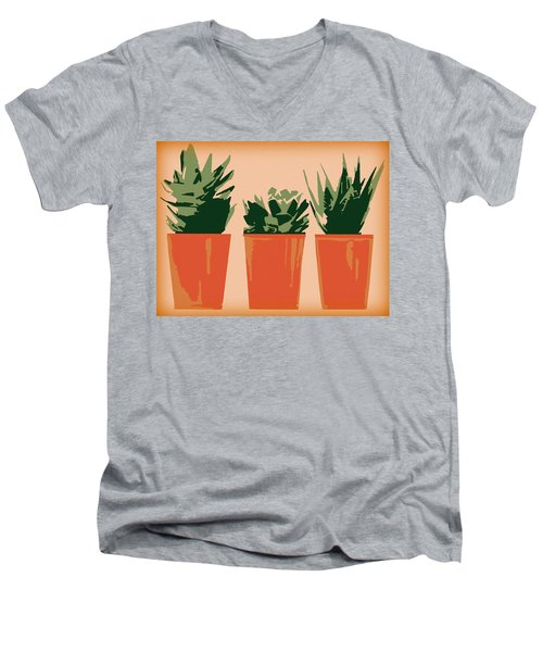 Succulents Men's V-Neck T-Shirt