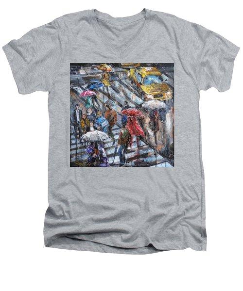 Sudden Rain II Men's V-Neck T-Shirt