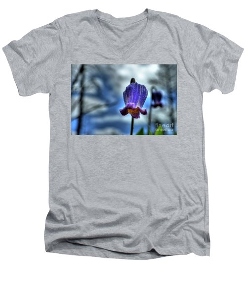 Sugarbowl Leather Flower Men's V-Neck T-Shirt